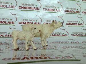 figurines vache et veau