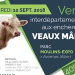 Mercredi 12 septembre:  Vente interdépartementale aux enchères de l'Allier